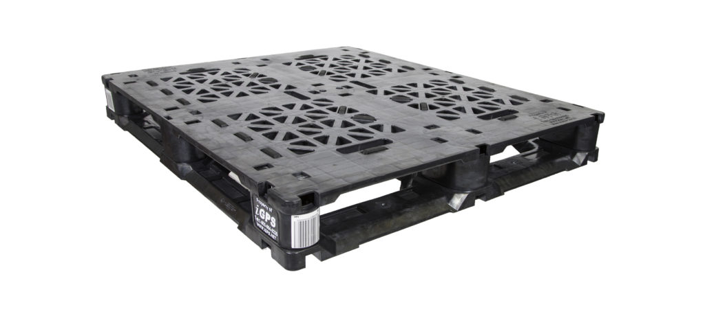 A plastic pallet with gma spec standard dimensions