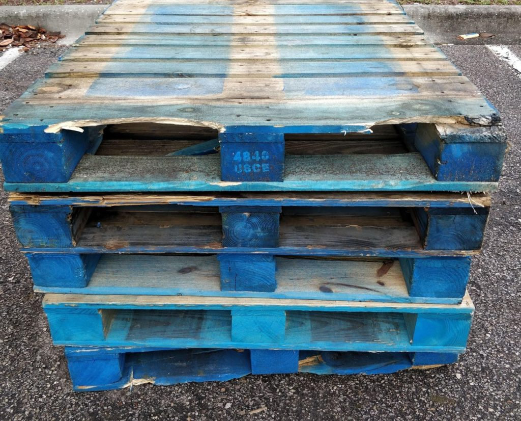 Wood pallets need to be handled carefully for safety