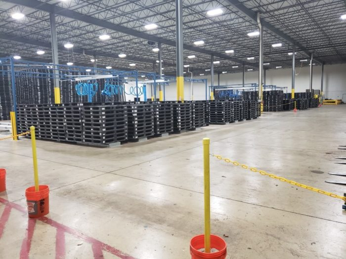 Pallet depot with inventory