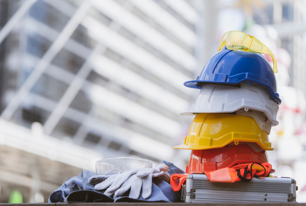 Basic PPE like hardhats contribute to warehouse injury prevention