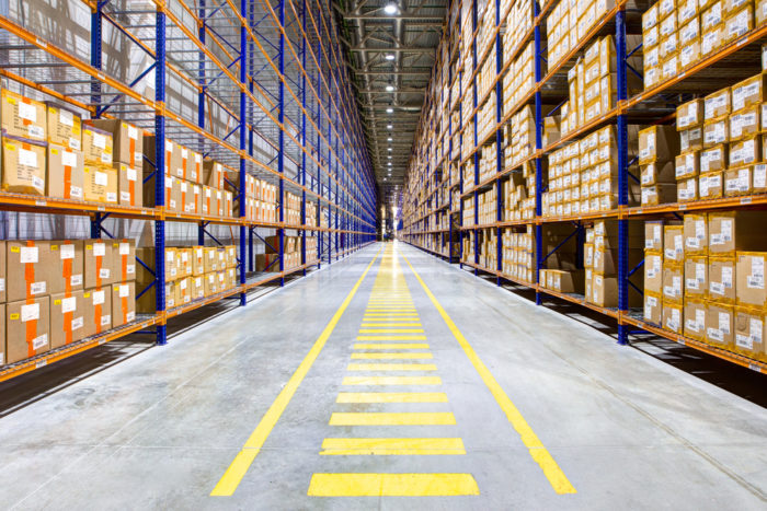 Racking systems can improve warehouse storage space utilization.