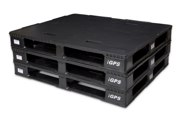 Some plastic pallets have embedded RFID chips for tracking.