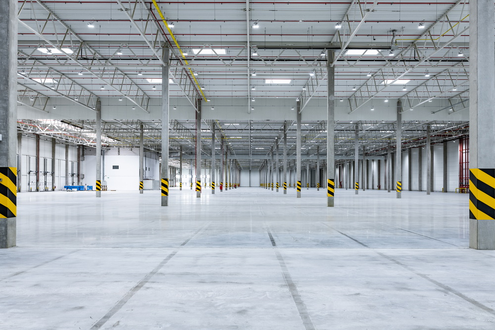 Empty warehouse space ready for optimization